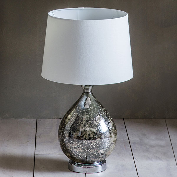 Gallery Direct Lumley Table Lamp with White Shade