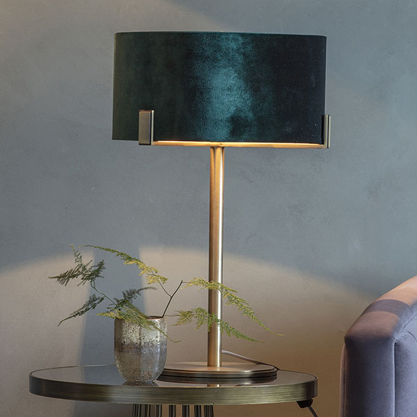 Gallery Direct Nicholson Table Lamp with Green Shade