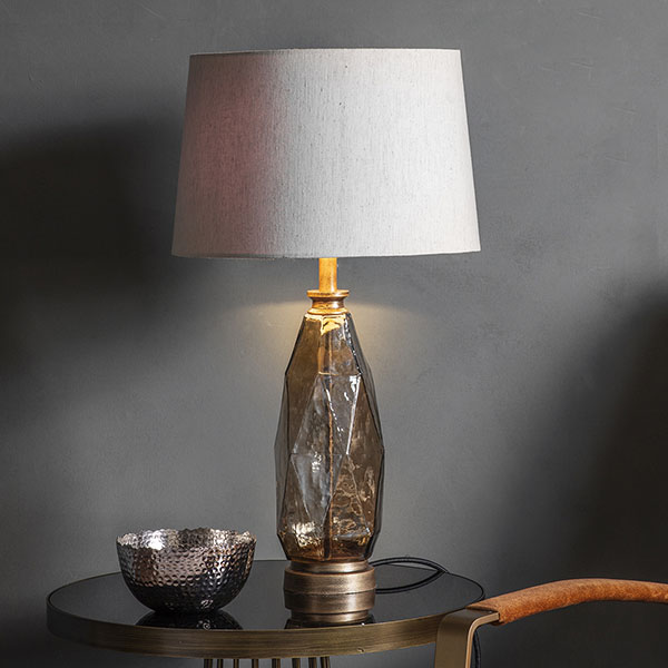 Gallery Direct Sibarri Table Lamp with Natural Shade