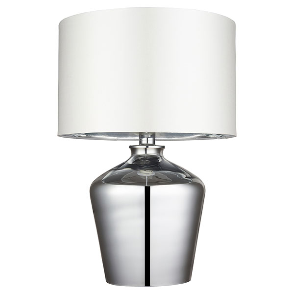 Gallery Direct Waldorf Table Lamp with Silver Shade