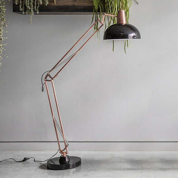 Gallery Direct Watson Bronze and Black Floor Standing Lamp