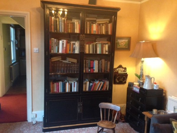 Oriental Large Black Glazed Bookcase at Harvest Moon Towers