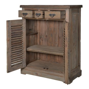 Empire Reclaimed Pine Louvred Cupboard
