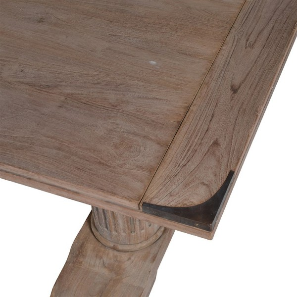 Image looking down onto the top of the Massive Corinthian Reclaimed Wooden Rectangular Dining Table