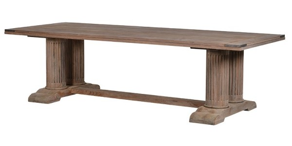 Massive Corinthian Reclaimed Wooden Rectangular Dining Table