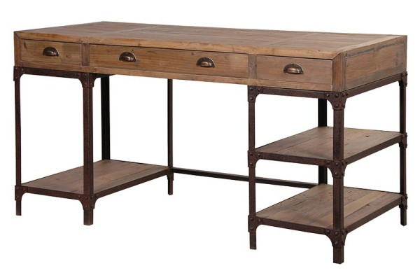 Large Rustic Pine Desk