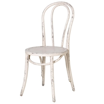Off-White Distressed Dining Chair