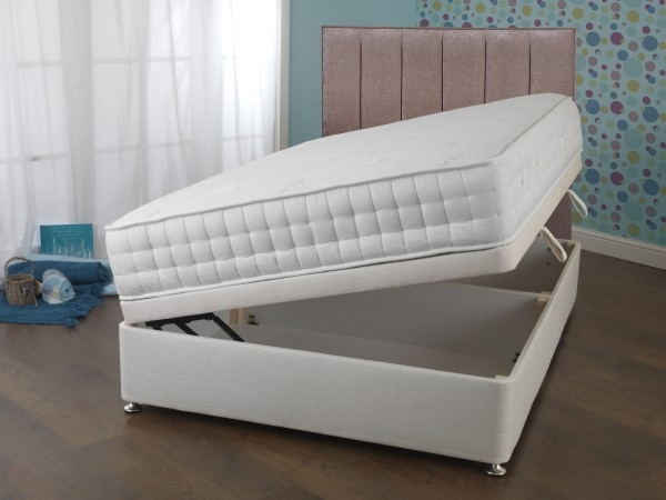 Sweet Dreams Eden Collection Abbey Luxury Aloe Vera Memory 2000 Side Opening ottoman Divan Bed open