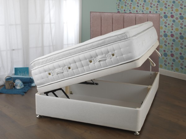 Sweet Dreams Eden Collection Arena 3000 Side Opening ottoman Divan Bed open