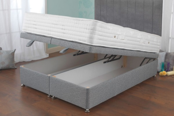 Sweet Dreams Eden Collection Fortune Ortho 2000 front opening divan bed open