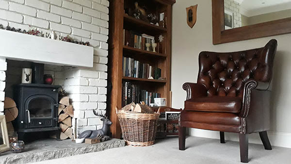 Tetrad Bradley chair in a customer's living room