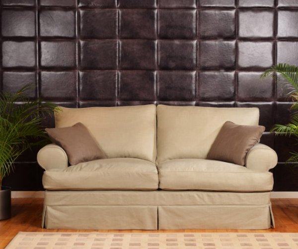 Tetrad Havana Sofa with Saville Linen Bone Cover option & optional Clay scatters