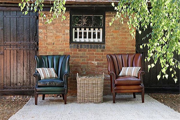 Tetrad Heritage Beardsley Leather Armchairs
