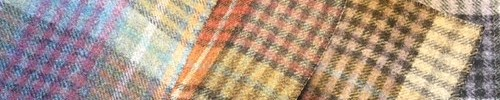 From Left to Right -  Midday, Sunset, Sunrise & Midnight Bertie Wool Fabric