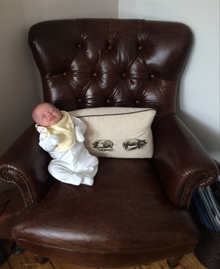 Matilda loves her Tetrad Calvay  Leather Chair