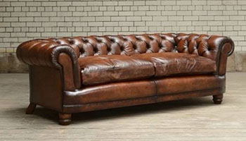 Tetrad Antique Brown finish on a Chatsworth sofa
