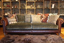Tetrad Mixed Leather and Fabrics Sofas, Chairs and Stools