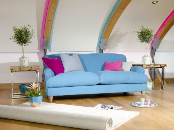 FF Collection by Tetrad Ruffle Sofa