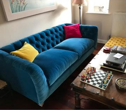 FF Collection by Truffle Sofa &  Pouffe Stool in a customer's living room