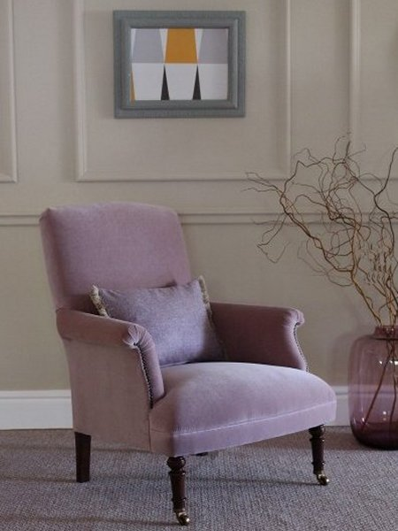 Tetrad Keswick Velvet Chair - A Tetrad Classic Velvet Collection Chair