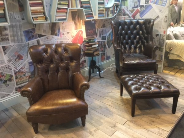 Tetrad Calvay Chair & Bradley Chair & Footstool
