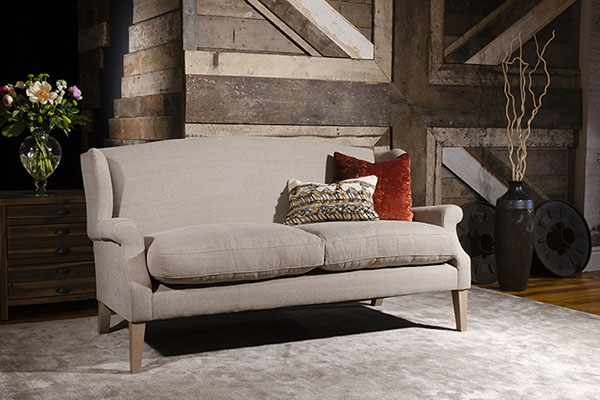 Tetrad Long Island Midi Sofa shown here in Lytham Linen Steel fabric