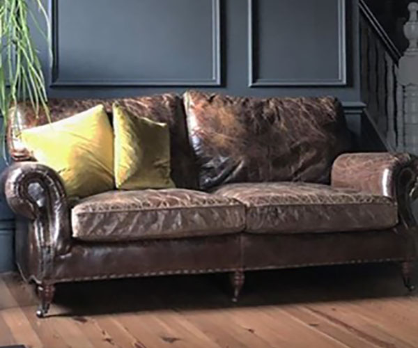 Cornberry Vintage Brown Leather Sofas