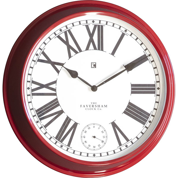 Gallery Direct Concord Red Wall Clock