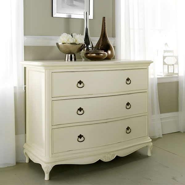Willis & Gambier Ivory 3 Drawer Low Chest
