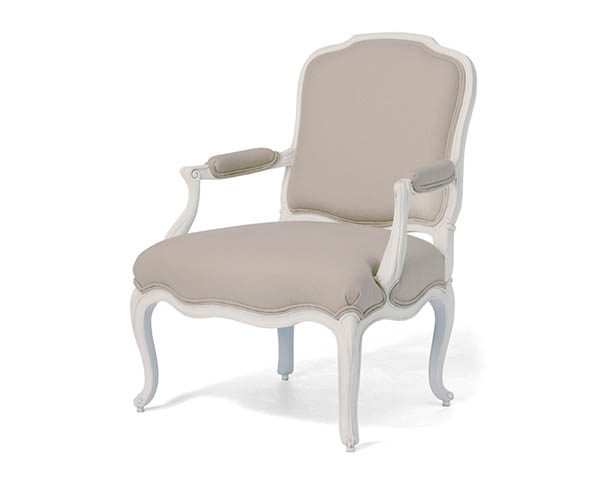 Willis & Gambier Ivory Bedroom Armchair