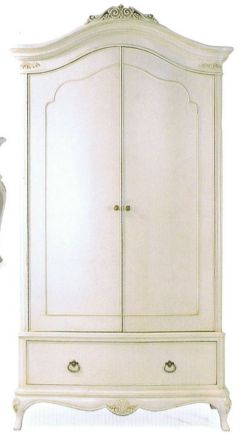 Willis and Gambier Ivory Double Wardrobe